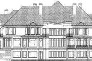European Style House Plan - 5 Beds 7.5 Baths 7885 Sq/Ft Plan #119-171 Exterior - Rear Elevation