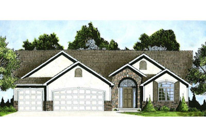 Dream House Plan - Mediterranean Exterior - Front Elevation Plan #58-214