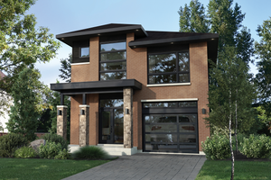 Contemporary Exterior - Front Elevation Plan #25-4874
