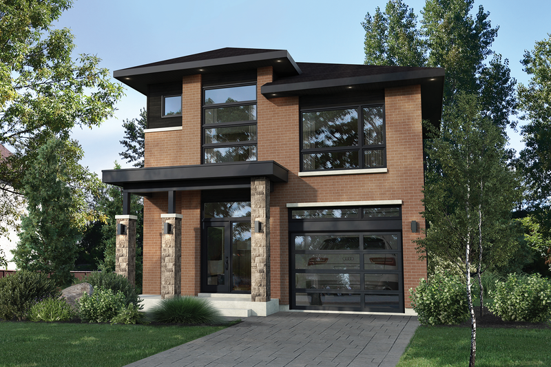 Home Plan - Contemporary Exterior - Front Elevation Plan #25-4874