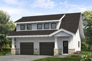 Bungalow Style House Plan - 1 Beds 1.5 Baths 1447 Sq/Ft Plan #47-1083 Exterior - Front Elevation