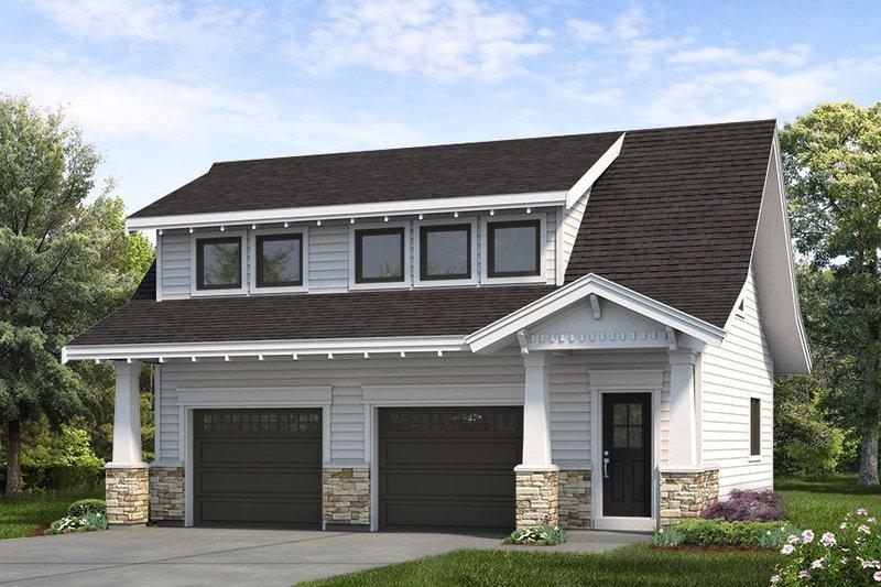 House Blueprint - Bungalow Exterior - Front Elevation Plan #47-1083