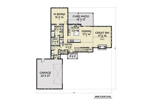 Dream House Plan - Craftsman Floor Plan - Main Floor Plan #1070-131
