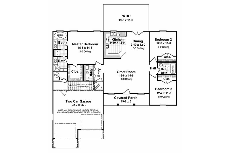 Ranch Style House Plan 3 Beds 2 Baths 1400 Sq Ft Plan 21 112