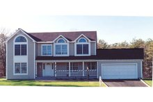 Country Exterior - Front Elevation Plan #3-316