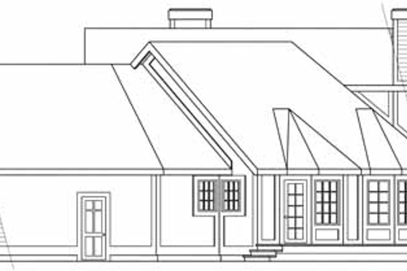 Traditional Exterior - Other Elevation Plan #124-103 - Houseplans.com