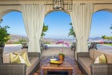 Architectural House Design - Mediterranean Exterior - Covered Porch Plan #484-8