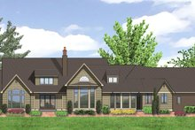 Dream House Plan - Craftsman Exterior - Rear Elevation Plan #48-622