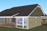 Craftsman Style House Plan - 3 Beds 2 Baths 1824 Sq/Ft Plan #51-516 Exterior - Other Elevation