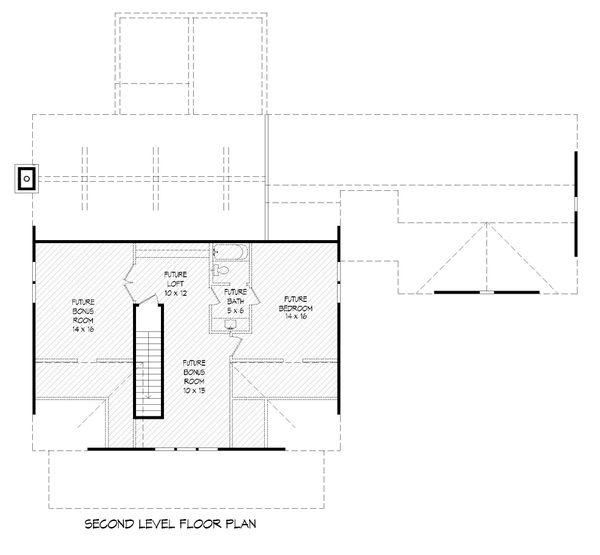 Country Floor Plan - Upper Floor Plan Plan #932-276