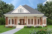Farmhouse Style House Plan - 4 Beds 2 Baths 1608 Sq/Ft Plan #45-597 Exterior - Front Elevation