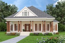 House Blueprint - Farmhouse Exterior - Front Elevation Plan #45-597