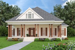 Dream House Plan - Farmhouse Exterior - Front Elevation Plan #45-597