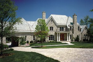 House Plan Design - European Exterior - Front Elevation Plan #453-50