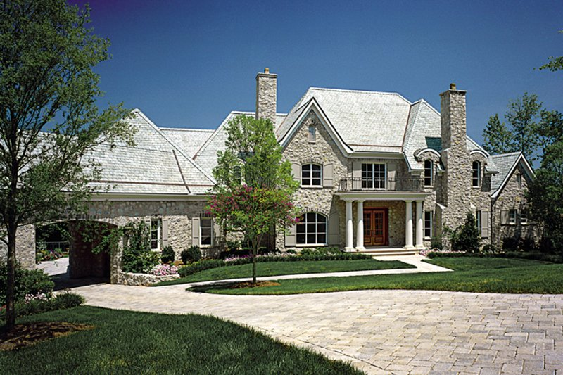 European Style House Plan - 5 Beds 6.5 Baths 8930 Sq/Ft Plan #453-50 Exterior - Front Elevation