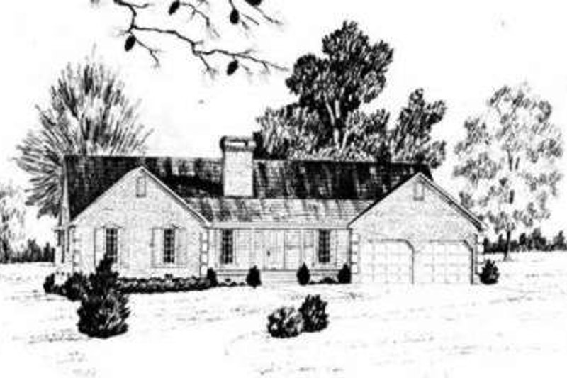 Traditional Exterior - Front Elevation Plan #36-421