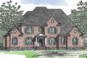 European Exterior - Front Elevation Plan #1054-89