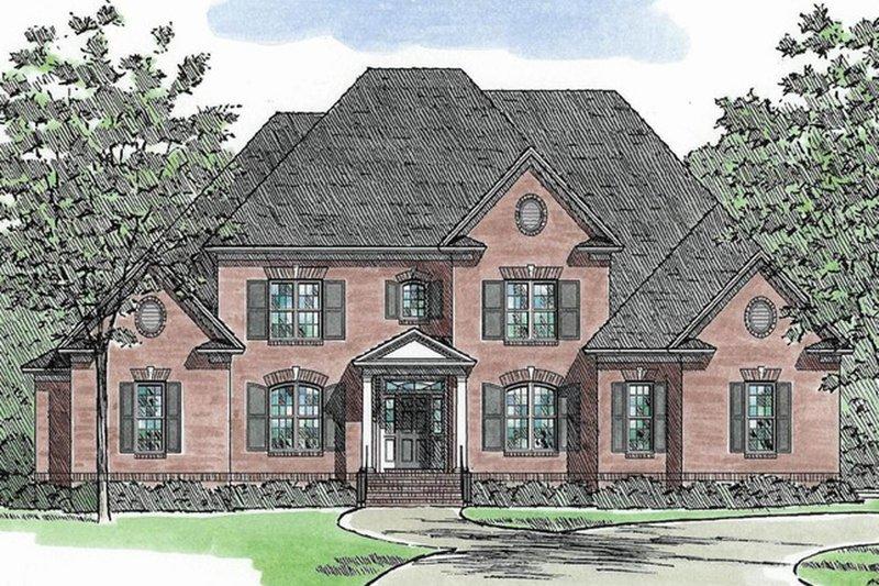 House Plan Design - European Exterior - Front Elevation Plan #1054-89