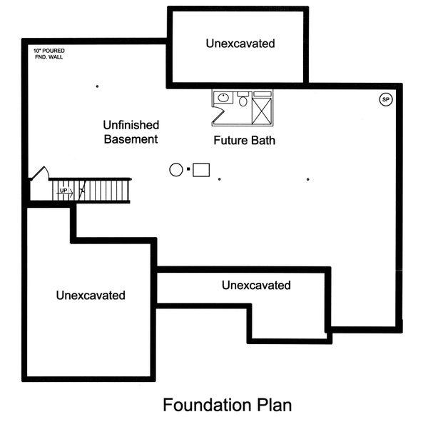 Home Plan - Unfinished Basement Foundation
