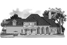 Mediterranean Exterior - Rear Elevation Plan #930-103