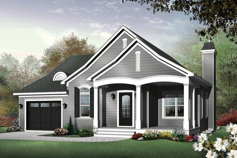 Cottage Style House Plan - 2 Beds 1.5 Baths 1452 Sq/Ft Plan #23-562 Exterior - Front Elevation