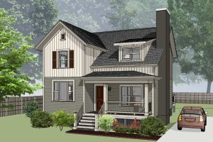 Home Plan - Country Exterior - Front Elevation Plan #79-284