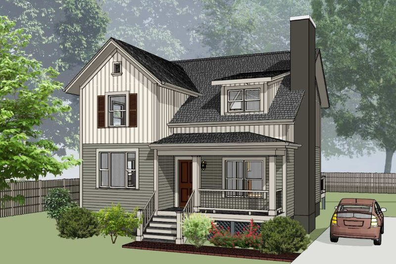 Architectural House Design - Country Exterior - Front Elevation Plan #79-284