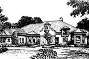 Mediterranean Style House Plan - 5 Beds 6.5 Baths 5520 Sq/Ft Plan #135-102 Exterior - Front Elevation