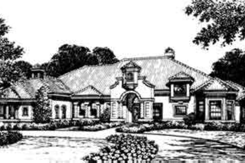 Mediterranean Style House Plan - 5 Beds 6.5 Baths 5520 Sq/Ft Plan #135-102