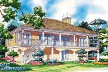Dream House Plan - Colonial Exterior - Rear Elevation Plan #930-30