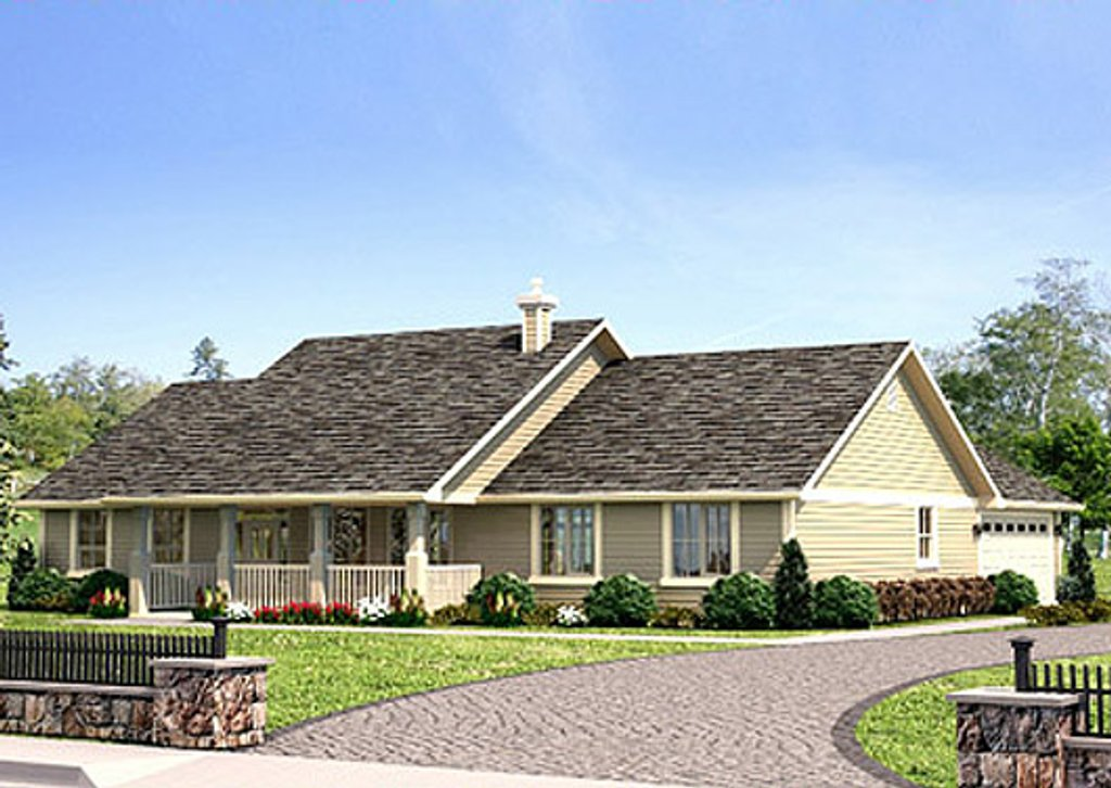 Ranch style house plan 3 beds 2 baths 1924 sq ft plan for Home plan com