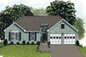 Traditional Exterior - Front Elevation Plan #56-105