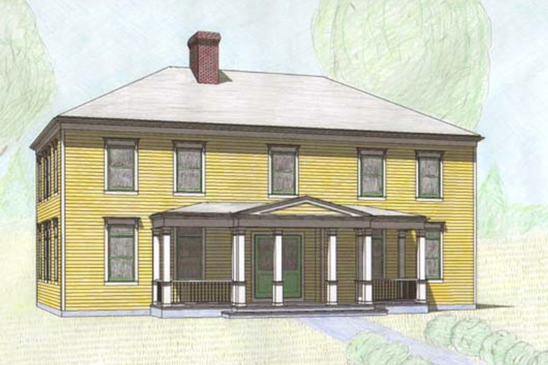 Classical Style House Plan - 4 Beds 3.5 Baths 3000 Sq/Ft Plan #477-7 Exterior - Front Elevation