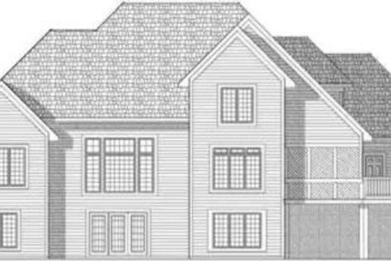 Traditional Exterior - Rear Elevation Plan #70-646 - Houseplans.com