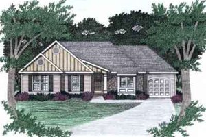 House Plan Design - Ranch Exterior - Front Elevation Plan #129-140