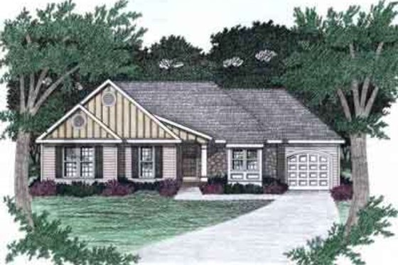 Ranch Exterior - Front Elevation Plan #129-140