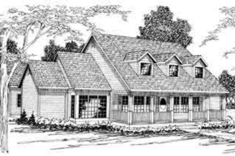Farmhouse Exterior - Front Elevation Plan #124-269 - Houseplans.com