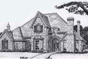 Colonial Style House Plan - 4 Beds 3.5 Baths 4000 Sq/Ft Plan #310-950 Exterior - Front Elevation