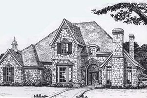 Colonial Exterior - Front Elevation Plan #310-950