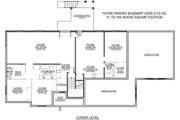 Farmhouse Style House Plan - 3 Beds 2.5 Baths 2143 Sq/Ft Plan #1073-17 Floor Plan - Lower Floor Plan