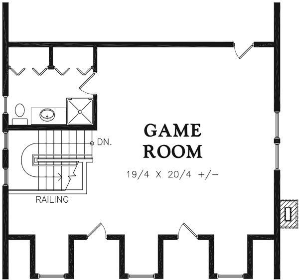Traditional Floor Plan - Other Floor Plan Plan #48-966