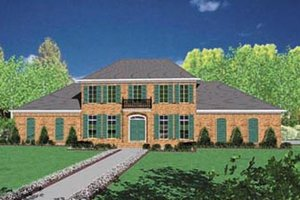 Colonial Exterior - Front Elevation Plan #36-231