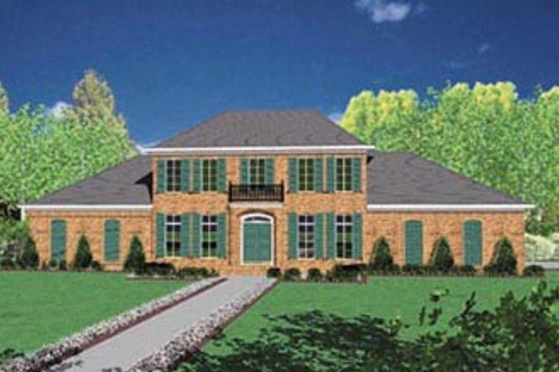 Colonial Exterior - Front Elevation Plan #36-231 - Houseplans.com