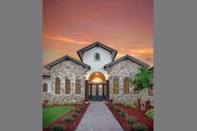 House Plan Design - Mediterranean Exterior - Front Elevation Plan #938-90