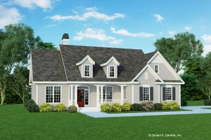 Cottage Exterior - Front Elevation Plan #929-433