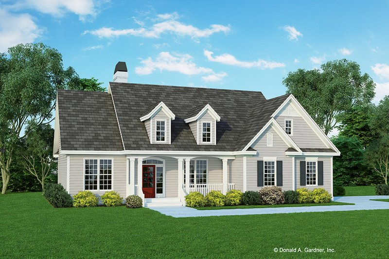 Cottage Style House Plan - 3 Beds 2 Baths 1559 Sq/Ft Plan #929-433 Exterior - Front Elevation