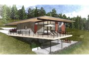 Modern Style House Plan - 4 Beds 3.5 Baths 3056 Sq/Ft Plan #498-6 Exterior - Rear Elevation
