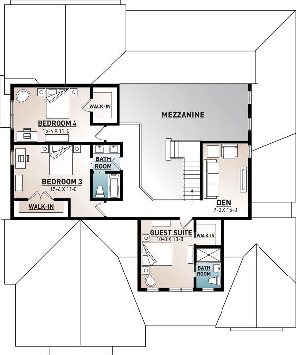 Dream House Plan - Farmhouse Floor Plan - Upper Floor Plan #23-2690