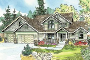 Architectural House Design - Craftsman Exterior - Front Elevation Plan #124-759