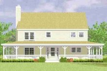 House Blueprint - Country Exterior - Rear Elevation Plan #72-341